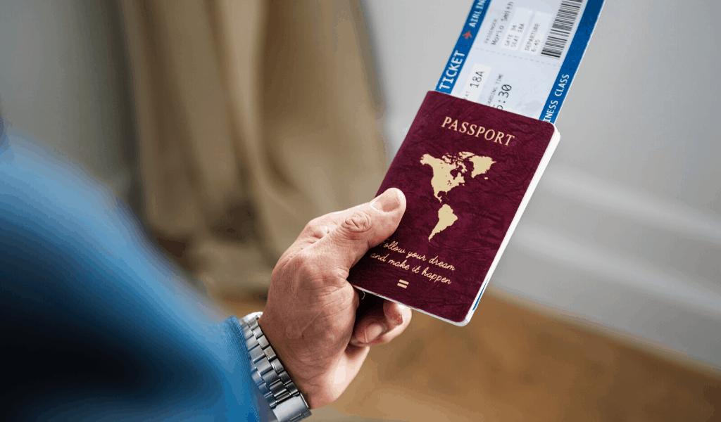 Documentos de viagem - passagens