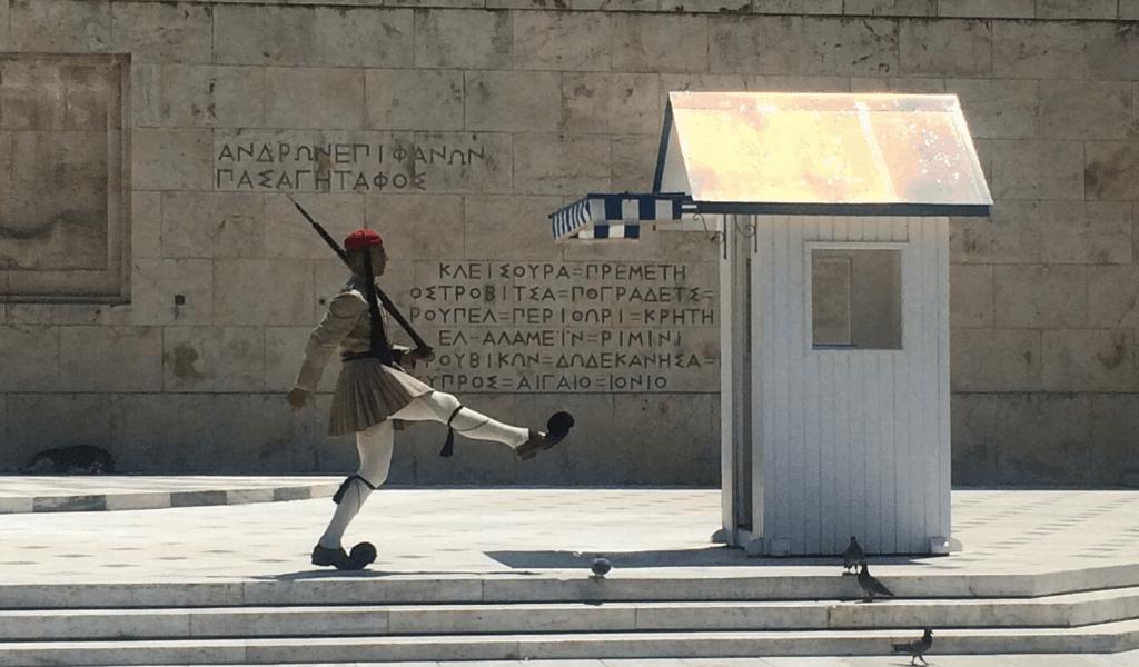 O que fazer em Atenas - troca da guarda praça Syntagma